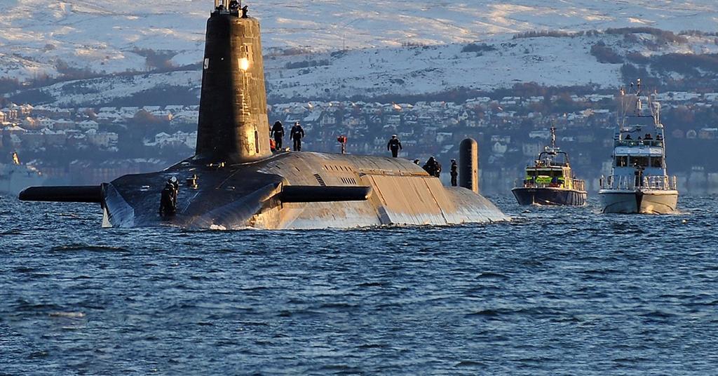 Vanguard class nuclear submarine