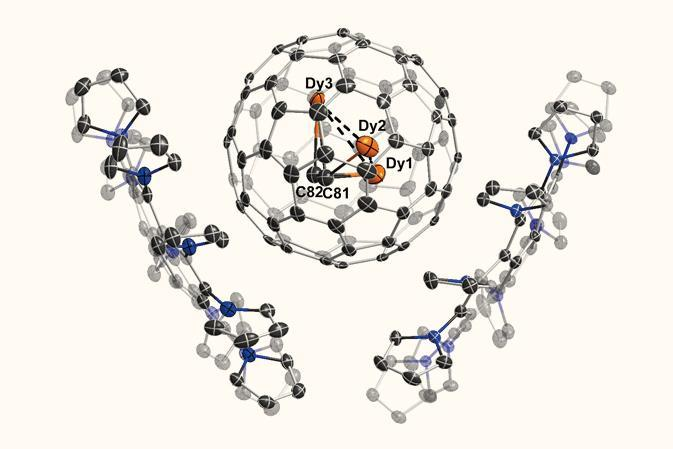 Three-centre single-electron bond caught in a cage