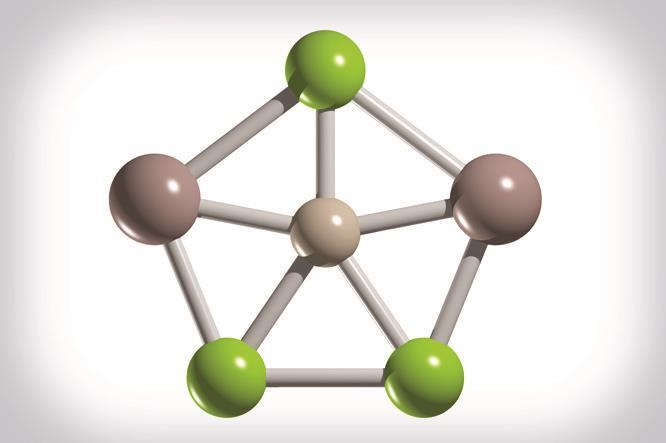 Planar fivefold bonding with silicon and germanium at the centre
