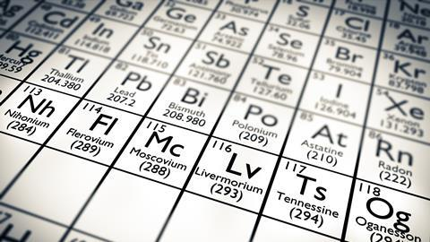 Hunt For Element 119 To Begin Research Chemistry World