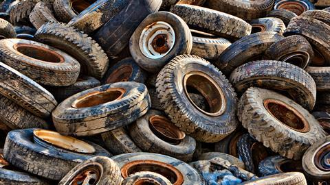 An image showing car tyres