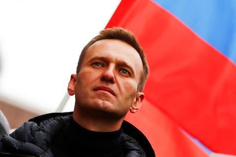 A photograph showing Alexei Navalny