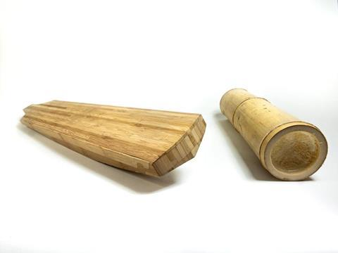 A picture showing bamboo cricket bats