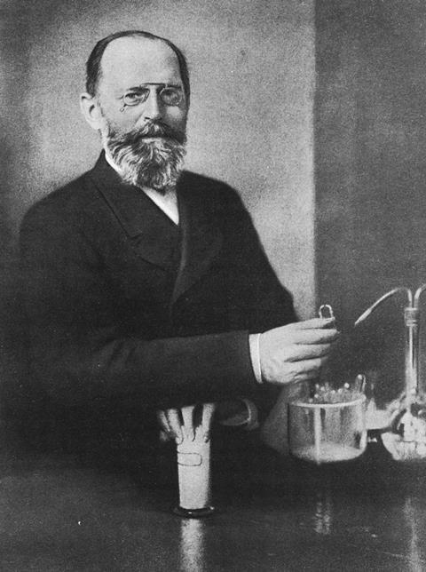 A photograph of Emil Fischer
