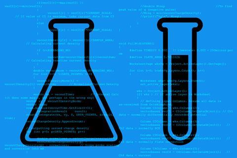 An image that shows chemistry coding