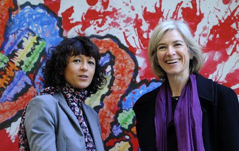 An image showing Emmanuelle Charpentier and Jennifer Doudna