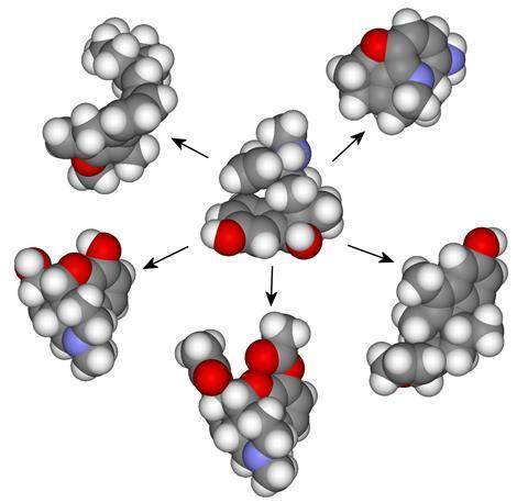 تصویری که مجموعه مولکول ها را نشان می دهد