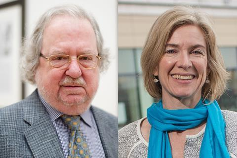 A picture of James Allison and Jennifer Doudna