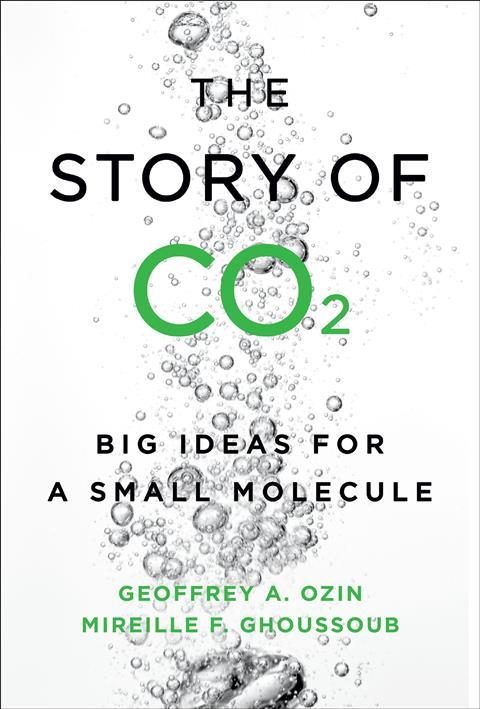 An image that covers the book cover of The story of CO2.  shows