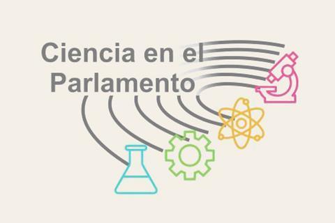 A picture with the logo of Ciencia en el Parlamento