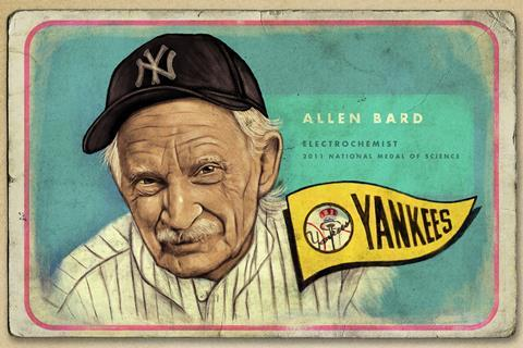 An illustrated portrait of Allen Bard