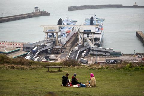 A picture showing ships in Dover