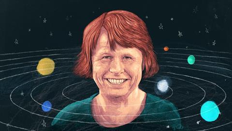 An illustrated portrait by Ewine van Dishoeck